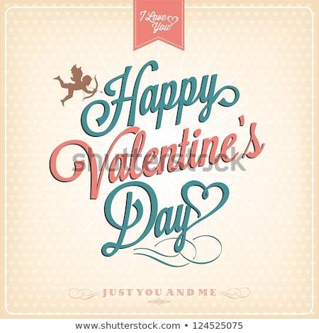 Gelukkig valentijnsdag harten ontwerp ontwerpsjabloon Stockfoto © ivaleksa