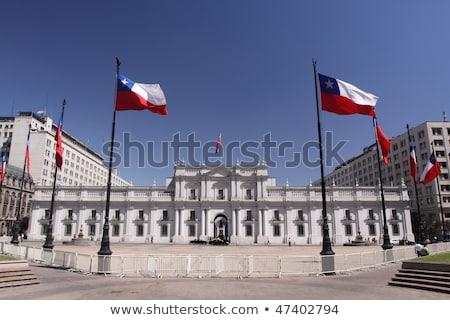 Casa bandeira Chile branco casas Foto stock © MikhailMishchenko