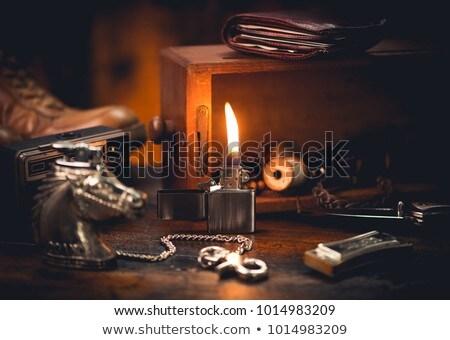 metal · benzina · accendino · isolato · bianco · luce - foto d'archivio © netkov1