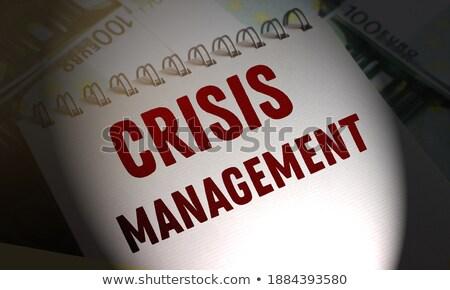 Szó válság dollár bankjegy kilátás pénz Stock fotó © AndreyPopov