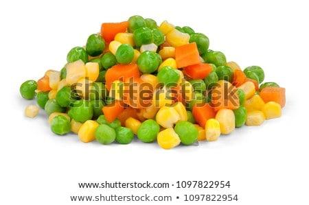 Keverék zöldségek üveg bank asztal étel Stock fotó © tycoon
