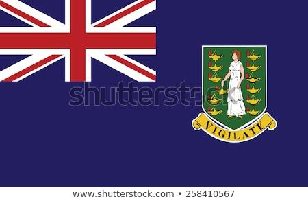 Zászló brit Virgin-szigetek száraz Föld föld Stock fotó © grafvision
