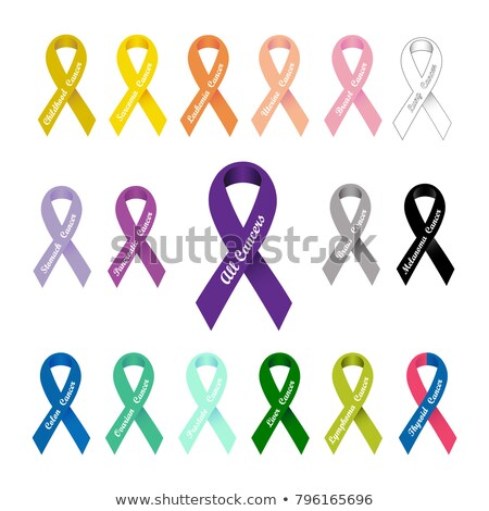 Stock photo: White Ribbon Set Isolated Grey Background