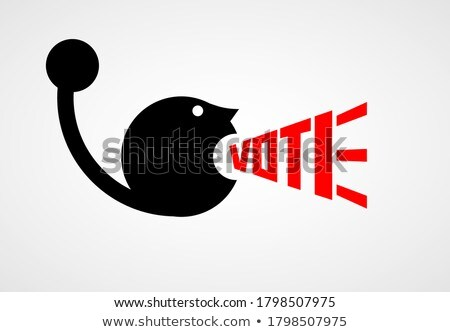 man shouting with colour letter on head Stock photo © wavebreak_media