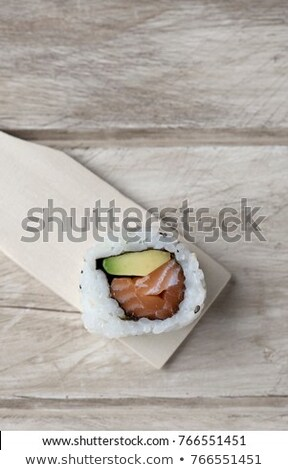 üres · szusi · fából · készült · tálca · japán · étel · fa - stock fotó © nito