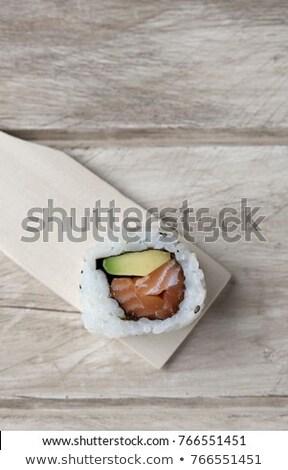california roll in a wooden pallette Stock photo © nito