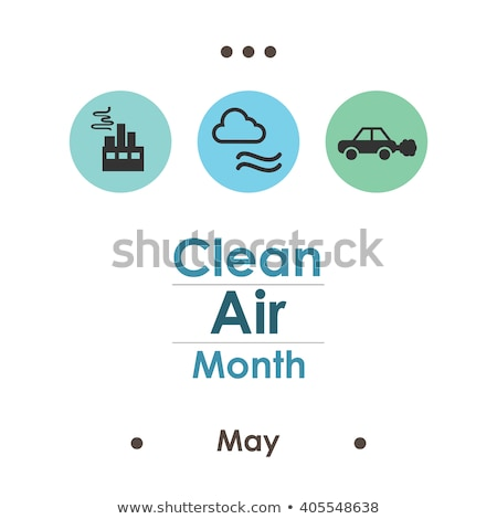 Air pollution poster with cars and factory Stock photo © bluering