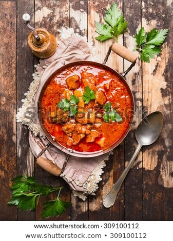 Delicious homemade goulash soup Stock photo © Peteer