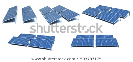 Solar Panel Isolated on White Stock photo © make