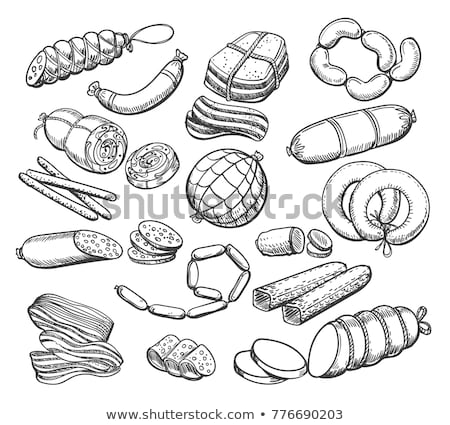 Deli meats and Wiener sausages  Stock photo © grafvision