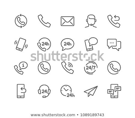 пост службе вектора иконки веб Сток-фото © ayaxmr