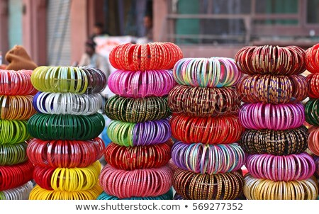 Indian Bangles in a shop Stock photo © dmitry_rukhlenko