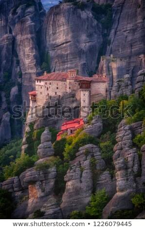 Görmek manastır Yunanistan kaya Bina doğa Stok fotoğraf © borisb17
