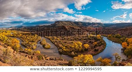 Rio folyó kanyar hegyek Új-Mexikó észak Stock fotó © Qingwa