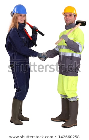 tradespeople shaking hands stock photo © photography33