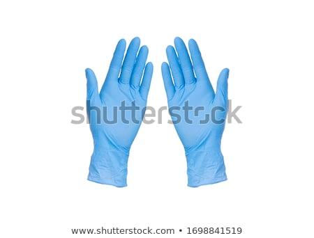 Blauw handschoen witte Stockfoto © devon