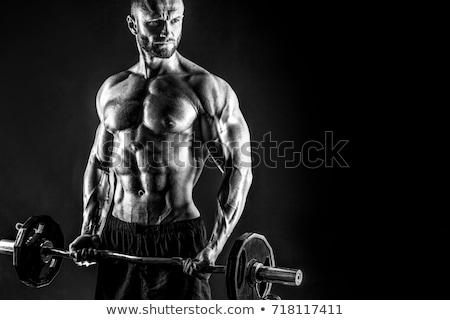 Bodybuilder concentrating Stock photo © stokkete