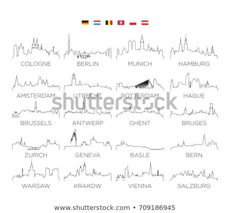 warschau skyline Stock photo © compuinfoto