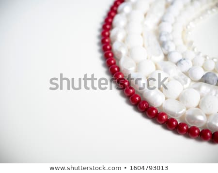 Beauty with coral beads Stock photo © Novic