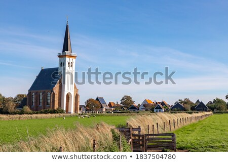 Bianco christian chiesa Holland frazione nubi Foto d'archivio © compuinfoto