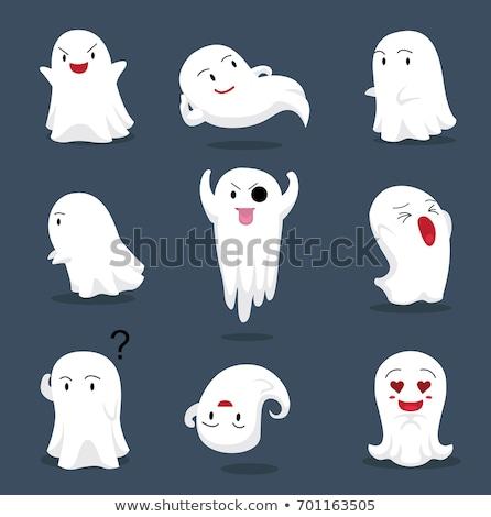 Cartoon funny fantasma diseno arte retro Foto stock © lineartestpilot