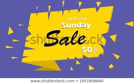 Sunday Offer Yellow Vector Icon Design Stock photo © rizwanali3d