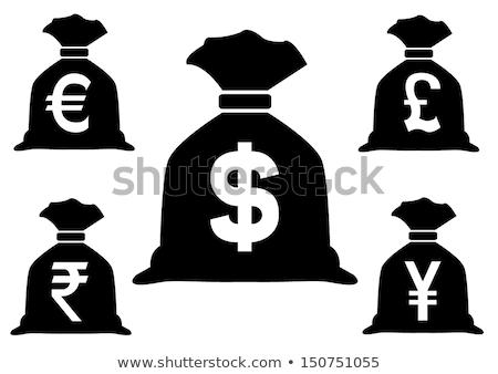 Yen çanta ikon örnek 3D mavi Stok fotoğraf © nickylarson974