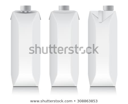 blanche · paquet · jus · isolé · papier · boîte - photo stock © konturvid