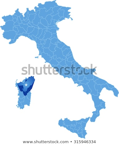 Map of Italy, Nuoro Stock photo © Istanbul2009