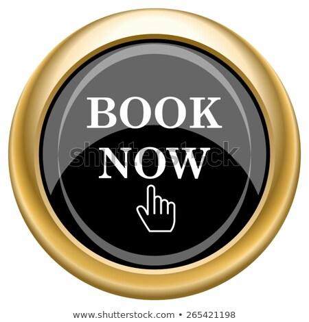 Book Now golden Vector Icon Design Stock photo © rizwanali3d