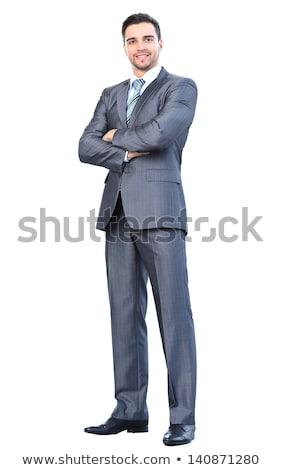 jungen · Geschäftsmann · Hinweis · isoliert · weiß · Hintergrund - stock foto © elnur