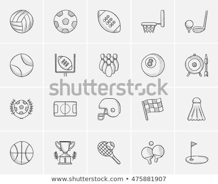 Shuttlecock sketch icon. Stock photo © RAStudio