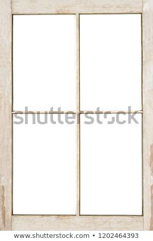 gebroken · glas · oude · huis · hemel · gebouw · bouw · home - stockfoto © calek