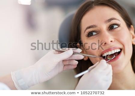 歯科 若い女性 治療 笑顔 顔 ストックフォト © boggy