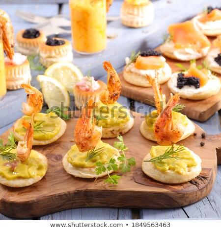 Brinde dedo comida pão natal jantar Foto stock © M-studio