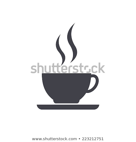 cup of coffee with smoke icon illustration Stock photo © blaskorizov
