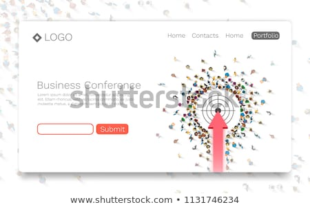 Target group concept landing page. Stock photo © RAStudio