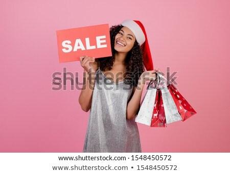 portret · podniecony · uśmiechnięty · dziewczyna · christmas - zdjęcia stock © deandrobot