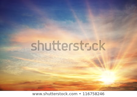 Dramatic sunset rays Stock photo © jsnover