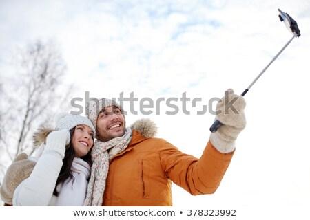 vader · zoon · man · kind · home · mobiele · telefoon - stockfoto © dolgachov