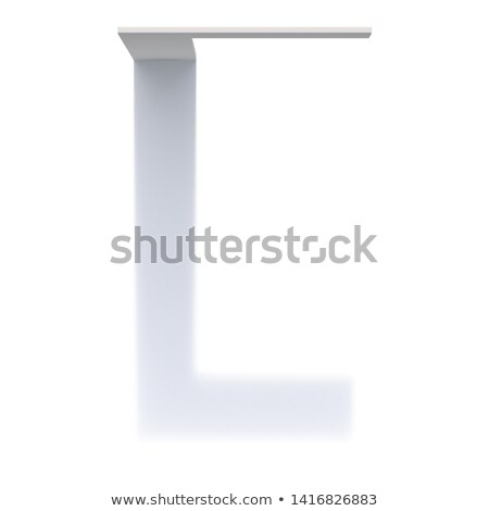 垂直 ドロップ 影 フォント 文字l 3D ストックフォト © djmilic