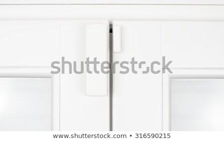 Allarme sensore finestra porta magnetico isolato Foto d'archivio © magraphics
