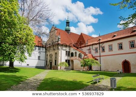 Kolostor Csehország kilátás égbolt épület város Stock fotó © borisb17