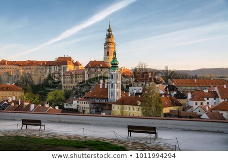 vue · deux · tour · République · tchèque · bâtiment · église - photo stock © borisb17