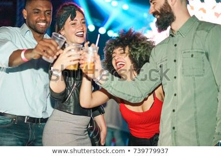 Femmes potable cocktails discothèque piste de danse femme Photo stock © robuart