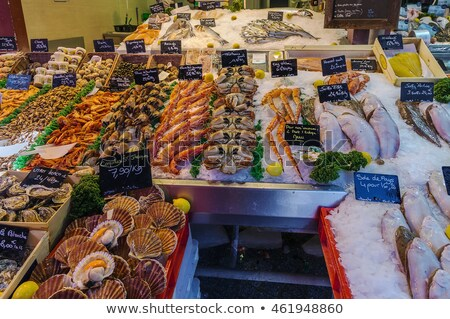 counter with seafood trouville sur mer france stock photo © borisb17