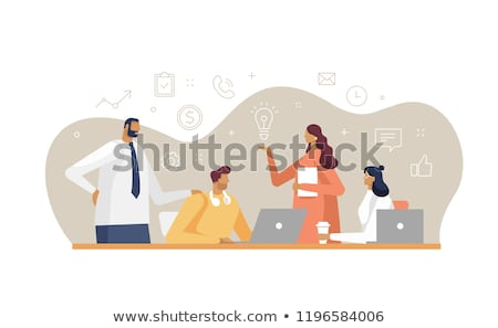Creative people - set of flat design style characters Stock photo © Decorwithme