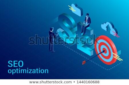 Seo optimalizálás csapat fejlődő promóció stratégia Stock fotó © RAStudio