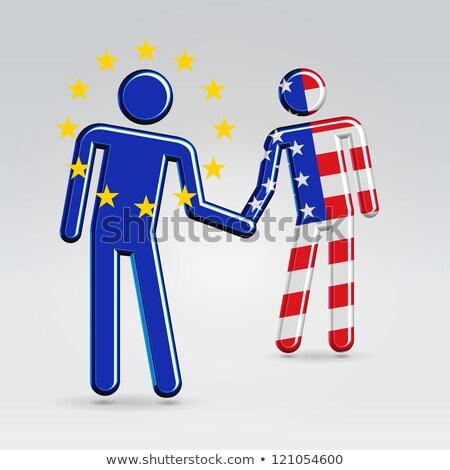 bevándorlás · emberek · zászló · Európa · térkép · család - stock fotó © robuart