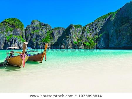 表示 · ビーチ · プーケット · 島 · タイ · 長い - ストックフォト © vapi